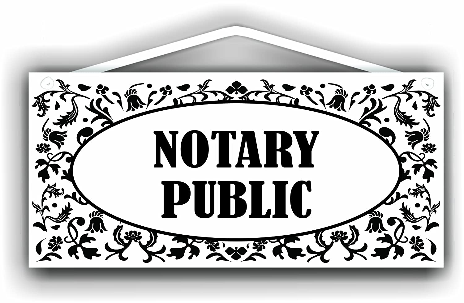 amazon com notary public sign for indoor or outdoor use by