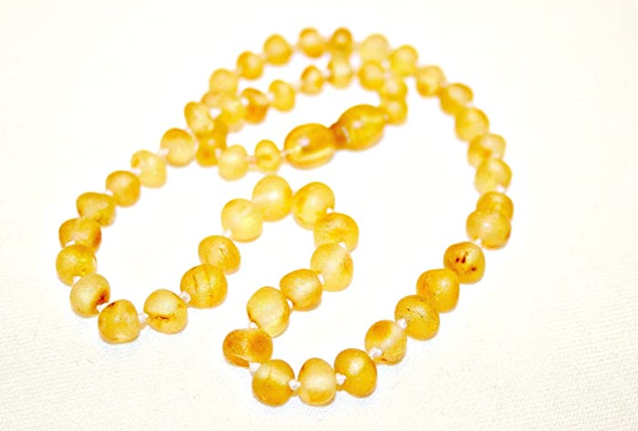 Raw Amber Bracelet / Anklet - Lemon Color - Hand-made from Certified Baltic Amber Beads SrfxxpUOh