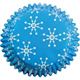 PME Snowflakes Paper Baking Cases for Cupcakes, Standard Size, Pack of 60