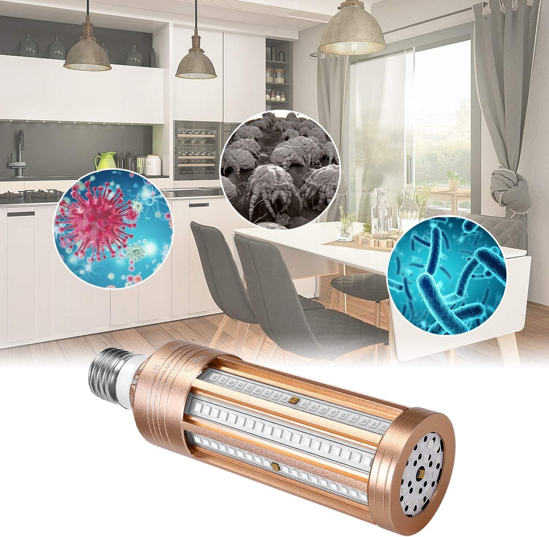 2020 Neueste Version UV Desinfektionslampe UV-C Keimt/ötende Lampe 60W 230V E27 Sockel 99,9/% Sterilisationsrate UV-Desinfektionslampe Desinfektionslampe f/ür Badezimmertoiletten im Hotelhaushalt