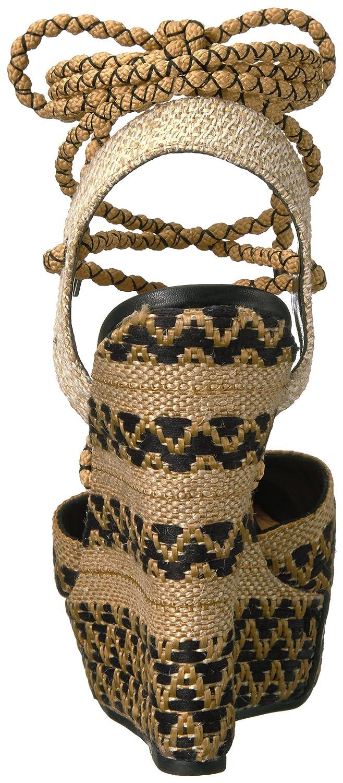 SCHUTZ Women's Amandinha Espadrille Wedge Sandal B01M6ZKTZT 8.5 B(M) US|Natural/Preto