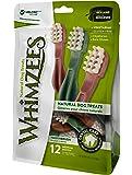 WHIMZEES Naturlig spannmålsfri tandvårdsnav, tugga för hundar, tandborste M, 12 stycken à 30 g