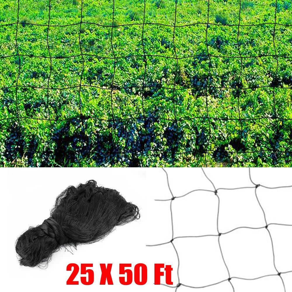 OGORI Black Garden Netting Pone Netting for Plant Protection Mesh Netting for Pest Control,Pea Fruit Netting 7M*15M(7M*15M)
