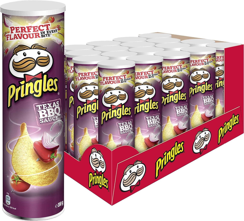 Pringles, Patata de bolsa (Barbacoa), 200 gr, 19 unidades: Amazon ...