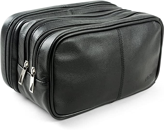 Lavievert Genuine Leather Toiletry Bag