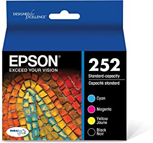 Epson T252120-BCS DURABrite Ultra Black & Color Combo Pack Standard Capacity Cartridge Ink,Black and Color Combo Pack