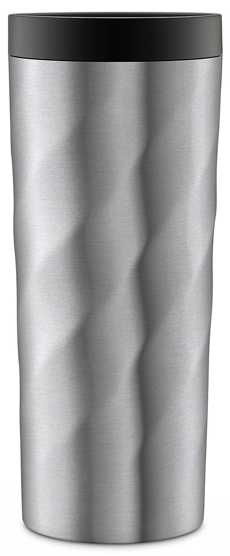 Ello Hammertime Vacuum-Insulated Stainless Steel Travel Mug, Nickel Twist, 18 oz Leapfrog Brands 437-0831-092