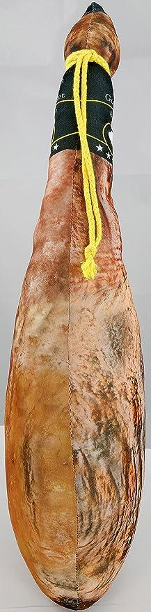 United Labels 122167 – Cojín en Forma de jamón ibérico, poliéster, de Colores Vivos, 68 x 25 x 5 cm