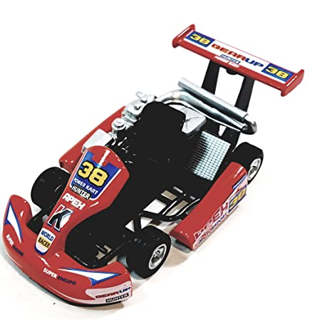 Amazon.com: Kinsmart Orange #38 Hunter Motorsport Turbo Go Kart 5