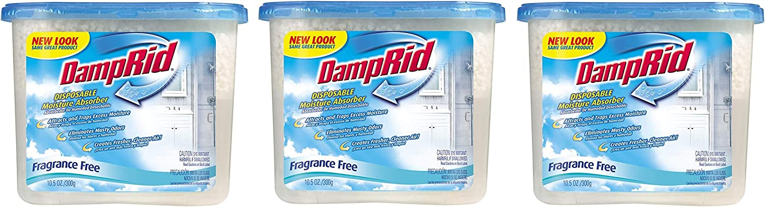 10.5-Ounce DampRid FG100 Unscented Disposable Moisture Absorber 3 Pack