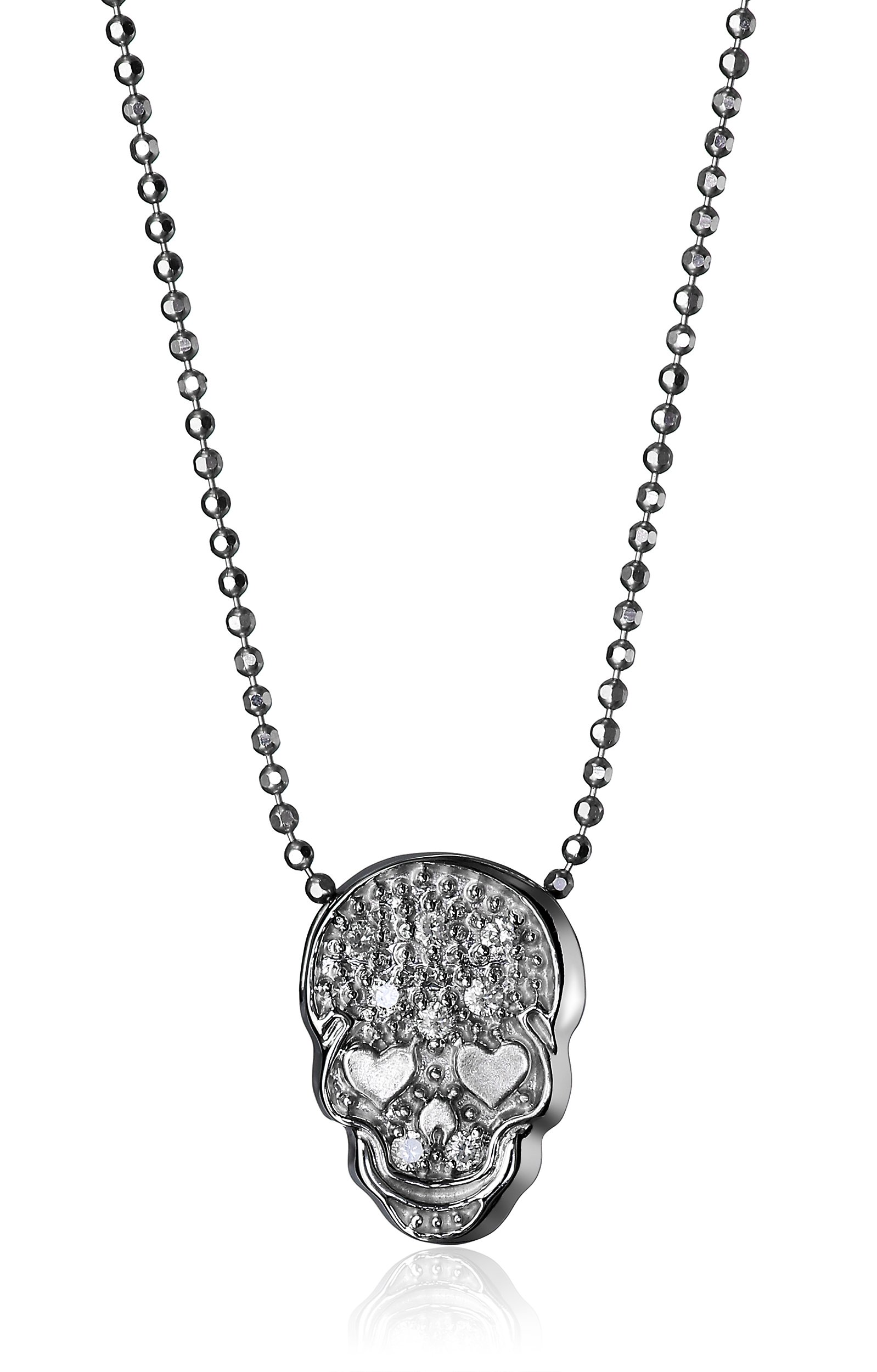 Alex Woo ''Little Rock Star'' White Skull Pendant Necklace