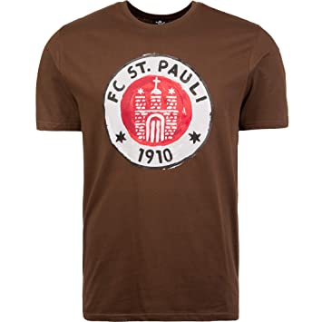 2f3e2999c2e09 FC St. Pauli T-Shirt Logo Paint Painting Brown: Amazon.co.uk: Sports ...