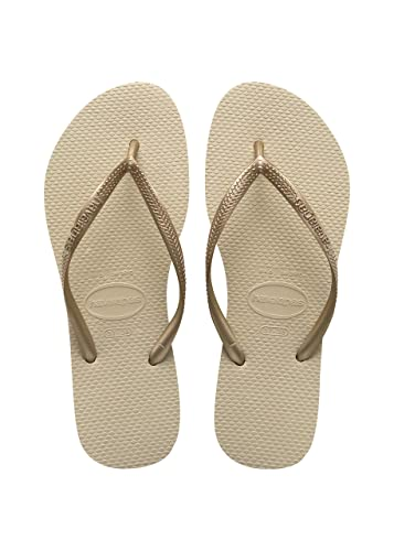 81cb0f5f61e6 Havaianas Womens Slim Flip Flop - Sand Grey Light Golden UK 5 - Bra 37