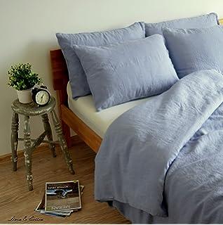 Linen U0026 Cotton Stonewashed Leinen Bettwäsche, Bettwäsche Set CAELUM, 100%  Leinen
