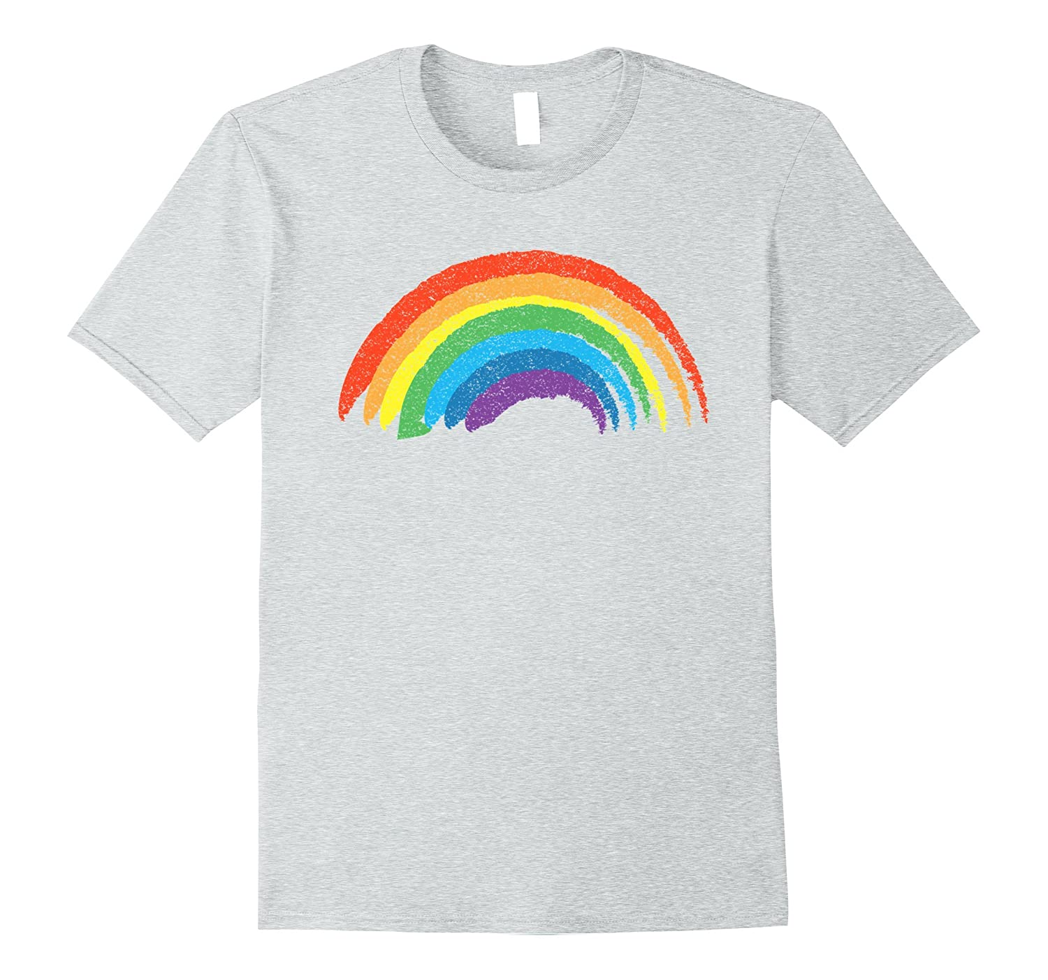 Vintage Retro Rainbow T-Shirt, Classic Distressed Design-T-Shirt