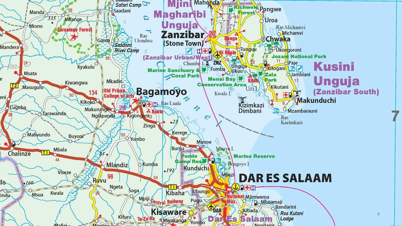 Tanzania, Ruanda, Burundi, mapa de carreteras impermeable. Escala 1:1.200.000. Reise Know-How.: world mapping project: Amazon.es: VV.AA.: Libros