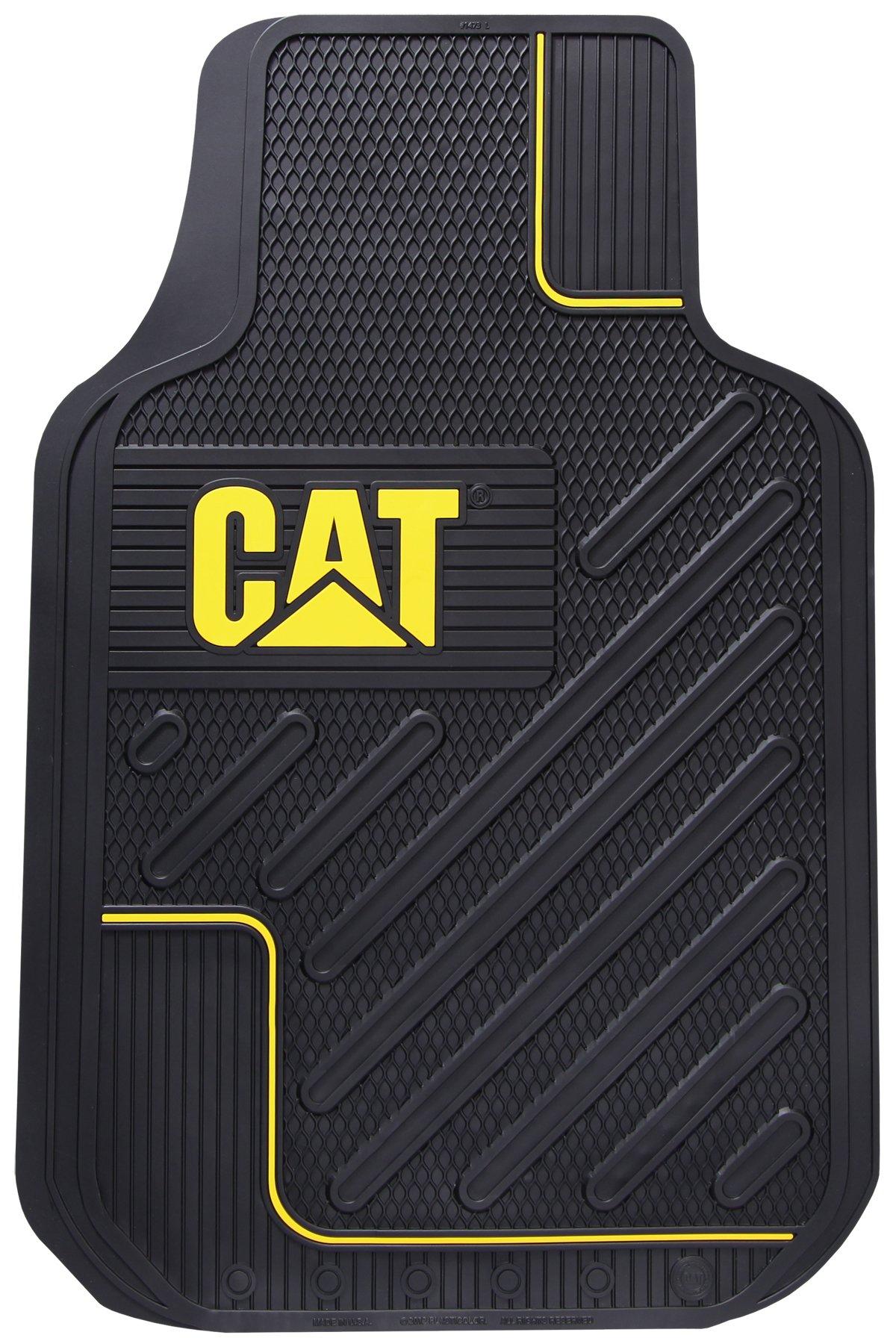 Caterpillar CAT All Weather Rubber Vinyl Front Floor Mats for Cars & Trucks
