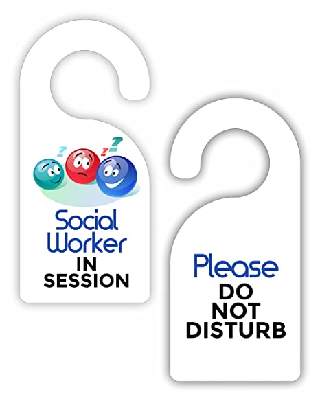 social worker in session please do not disturb social work