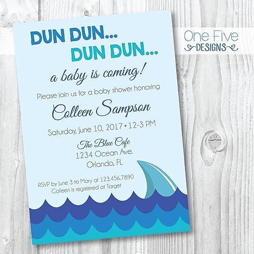 Amazon Shark Baby Shower Invitation Printable 5x7 Handmade