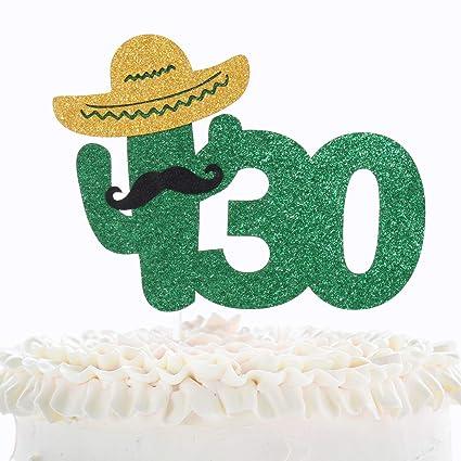 Decoración para tarta de 30 cumpleaños Fiesta – verde ...