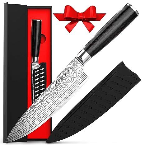 Amazon.com: Maxblademark cuchillo de chef de 7.9 in ...
