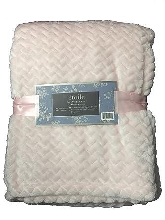 Amazon Etoile Baby Blanket Jacquard Weave Velvet Throw Pink Cool Etoile Throw Blanket