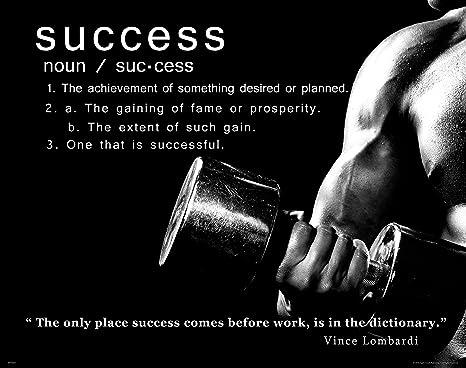 Amazon Com Workout Póster Motivacional éxito