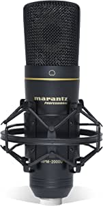 Marantz Professional MPM2000U MPM 2000U Marantz Professional MPM-2000U | Large Diaphragm Studio Quality USB Condenser Microphone For Podcasting & Recording, with Shockmount, USB Cable & Case