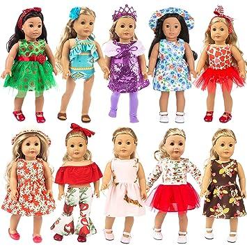 Zita Element 10 Set 24 Pcs Ropa Para Muñecas Ropa Para Muñecas De 40 Cm 46 Cm Y 16 18 Pulgadas Americal Girl Dolls Vestido De Ensueño Vestidos Vestido