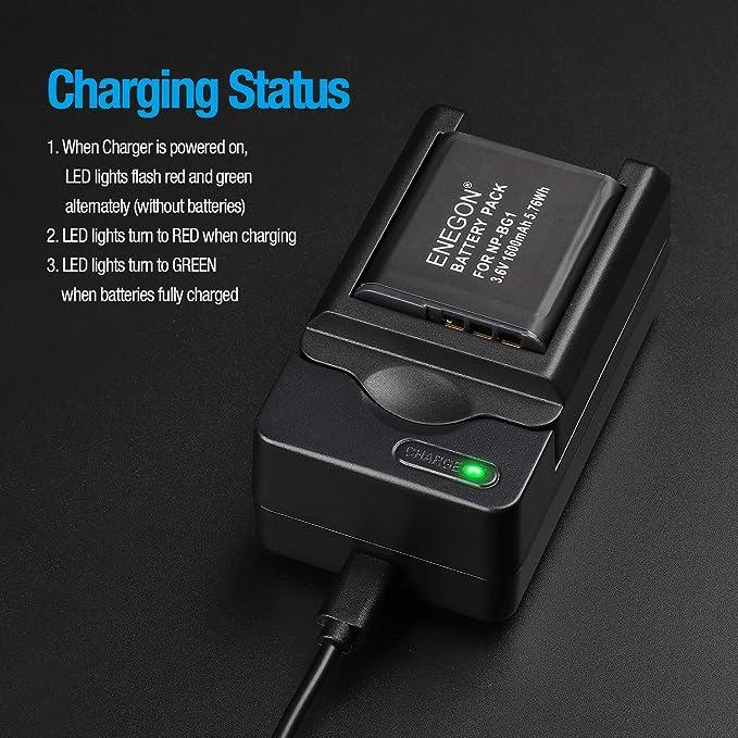Réf#W-181 Sony BC-CSGD Chargeur Original pour Batterie np-bg1 np-fg1