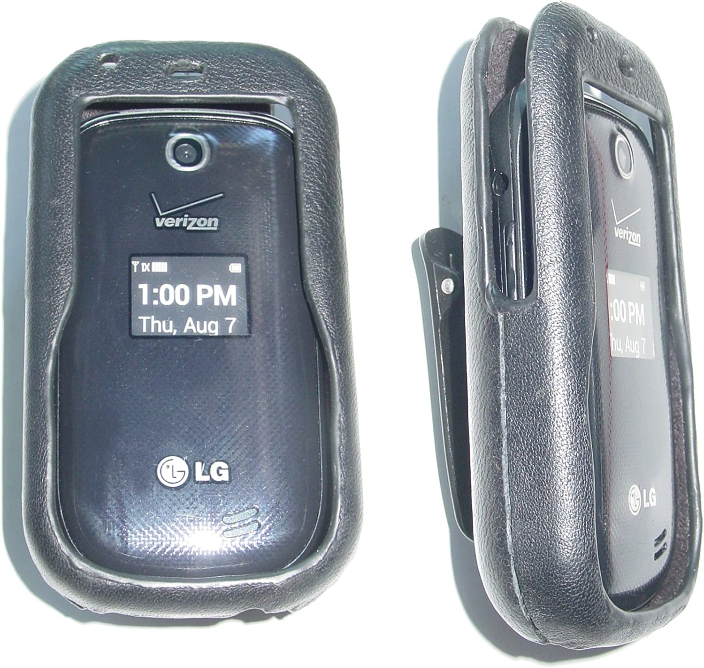 LG Revere 3 flip VN170 vn-170 L.G vn 170 Leather Cell Phone Belt Clip Holster TracFone Holder strap Case Swivel cellular mobile phones Strap hold cover protector