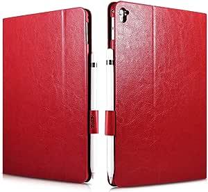 كفر ايباد برو 9.7 انش جلد احمر مع حامل قلم من شركة اكسومز