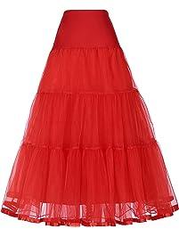 GRACE KARIN Women's Ankle Length Petticoats Skirts Underskirt Wedding Slips Wedding Dress
