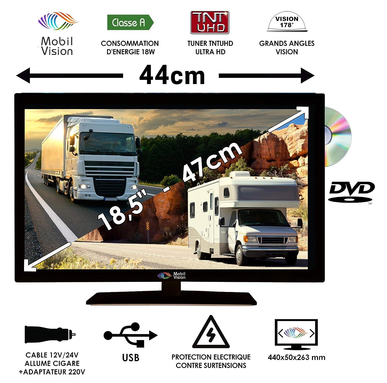 Mobile Vision TVWS19DVD - Combinación de TV y DVD para ...