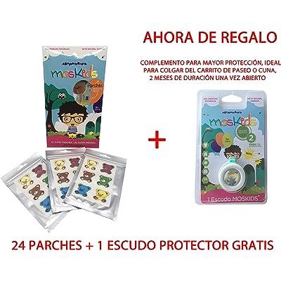MOSKIDS SUPER PARCHES ANTIMOSQUITOS 24 UDS + 1 ESCUDO PROTECTOR DE REGALO