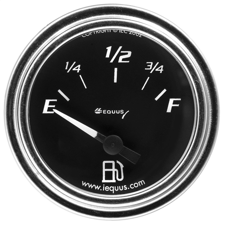 Equus 7362 2'' Fuel Level Gauge, Chrome with Black Dial by Equus