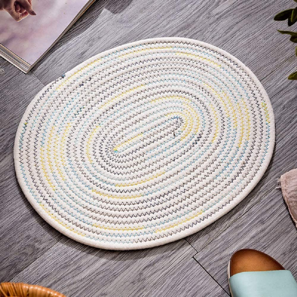 Dark Grey 11.8 X 15.7, Set of 6 Heat Resistant Durable Kitchen Pad Multi-Color Washable Table Mats Non-Slip Insulation Mat for Dining JOYEAR Oval Woven CottonPlacemats