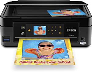 Epson Expression Home XP-400 Wireless All-in-One Color Inkjet Printer, Copier, Scanner. Prints from Tablet/Smartphone. AirPrint Compatible (C11CC07201)