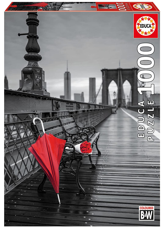 Educa 17691 1000 Umbrella 17691 Red - RBT Brooklyn Bridge Black 1000 and White Eingefa RBT B0793GM11Q, 岡山市:3b447a9e --- ero-shop-kupidon.ru