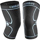 CAMBIVO 2 x Kniebandage, Knieschoner, Kniestütze für Meniskusriss, Arthritis, ACL-Verletzung, Gelenkkrankheiten, Laufen, Wandern, Joggen, Sport, Volleyball, Crossfit