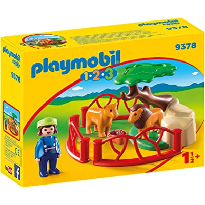 PLAYMOBIL Lion Enclosure Toy: Toys & Games