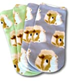 Two Pairs of Guinea Pig Face Ankle Socks by Piggies Choice