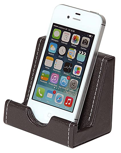Artikle Leather Corporate Phone Holder - Brown