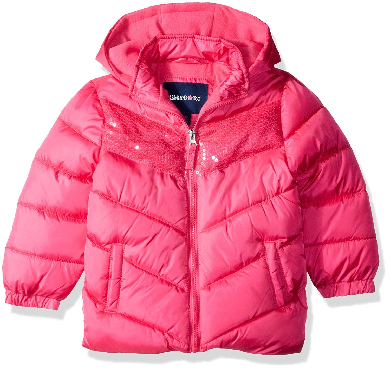Limited Too Girls Handstuffed Puffer Jacket with Sequins