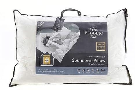 Medium Support Fine Bedding SPUNDOWN Synthetic Smartfil Hypoallergenic Pillow