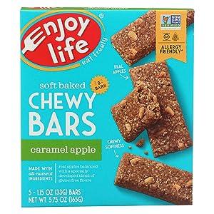 Enjoy Life Snack Bar - Caramel Apple - Gluten Free - 5 oz - case of 6 - Dairy Free - Yeast Free - Wheat Free-Vegan