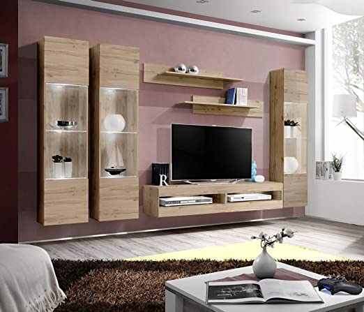 Amazon.com: Meble Furniture & Rugs Fly CD3 34TV - Centro de ...