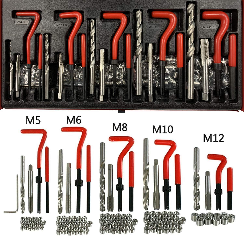 Best Q 131 pc Stripped Thread Rethread Recoil Repair Kit Metric M5 M6 M8 M10 M12