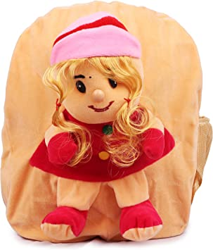 Toyswala Kids School Bag Soft Plush Backpack Cartoon Toy, Childrens Gifts Boy Girl/Baby/ Decor School Bag Premium Quality Cute Doll School Backpack