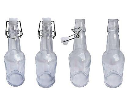 Paquete de botellas de vidrio transparente y estilo clásico de 500 L con tapó